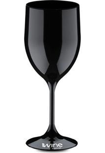 Taça Acrilico Vinho Preta - 400 Ml