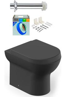 Kit Bacia Sanitária Convencional Com Assento Nexo Onix + Conjunto De Fixação, Tubo De Ligação E Anel De Vedação - Roca - Roca