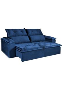 Sofá Vizeu - Retrátil E Reclinável - Azul Luxo - 250Cm