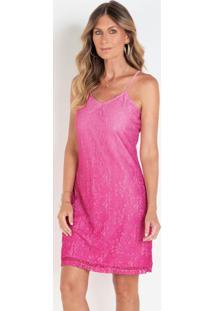 Vestido Em Renda Degradê Rosa