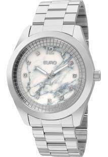 Relógio Euro Feminino Marmorizados Eu2036Yku/3B - Prata