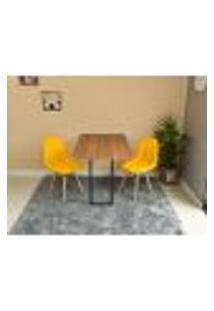 Conjunto De Mesa 120 X 75 Noronha + 2 Cadeiras Botonê - Amarela