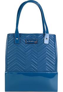 Bolsa Petite Jolie Tote Shopper Feminina - Feminino-Azul
