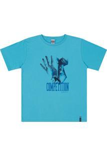 Camiseta Magic Boys Meia Malha Azul
