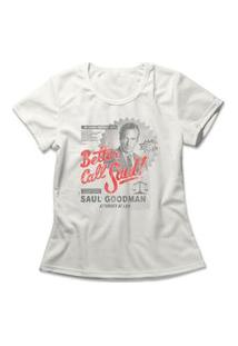 Camiseta Feminina Better Call Saul! Off-White