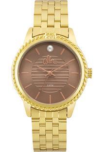 c0b4ca1eaa1bb ... Relógio Allora Analógico Al2035Fkv Feminino - Feminino-Dourado