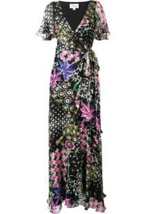 Temperley London Vestido Longo 'Claudette' - Preto