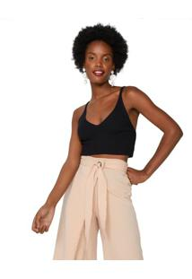 Top Cropped Básico Tricot