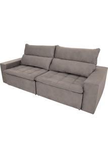 Sofá Retrátil E Reclinável De 4 Lugares Grecco Pillow 2,50M - Ambiente Móveis - Camurça