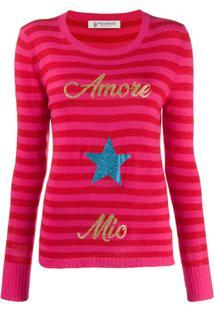 5 Progress Amore Mio Striped Jumper - Vermelho