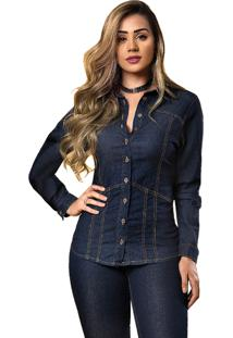 Camisa Jeans Tyn Azul Escuro