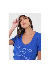 Camiseta Colcci Romance Azul