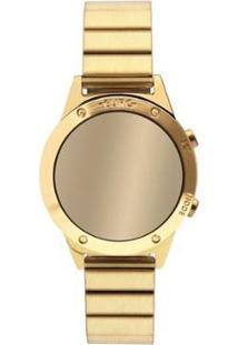 Relógio Euro Fashion Fit Reflexos Feminino - Feminino-Dourado