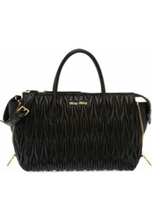 Miu Miu Miu Miu Avenue Travel Bag - Preto