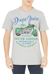 Camiseta Drope Jhose Choppers Cinza