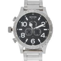 772015d4553 Relógio Nixon Chrono 51-30 A083 000 Prata