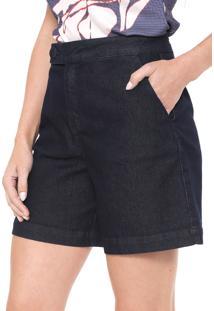 Bermuda Jeans Morena Rosa Alfaiataria Lisa Azul