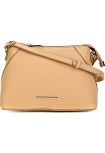 Bolsa Couro Jorge Bischoff Mini Bag Lisa Feminina - Feminino-Bege
