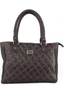 Bolsa De Couro Rebecca Café Absolut Leather. - Kanui