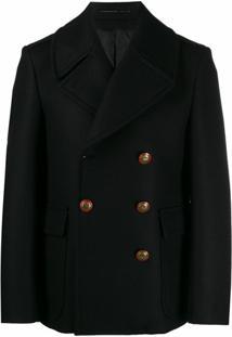 Givenchy Sobretudo Com Abotoamento Duplo De Unicórnios - Preto