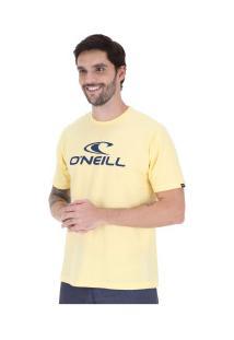 Camiseta O'Neill Estampa Corporate - Masculina - Amarelo