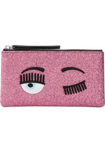 Chiara Ferragni Flirting Zip-Top Wallet - Rosa
