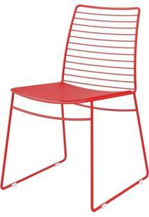 Cadeira 1712 Cor Vermelho Com Assento Couro Vermelho - 27680