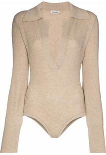 Nanushka Azha Ribbed Bodysuit - Neutro