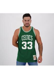 Regata Mitchell Ness Nba Boston Celtics 33 Bird Verde