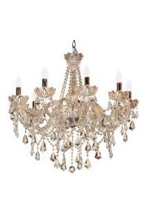Lustre De Cristal Cepheus Para 10 Lampadas Bivolt