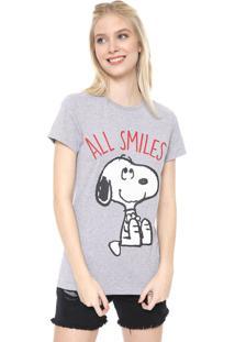 Camiseta Snoopy All Smiles Cinza