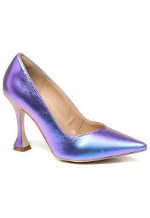 Sapato Feminino Zariff Scarpin Salto Taça Metalizado