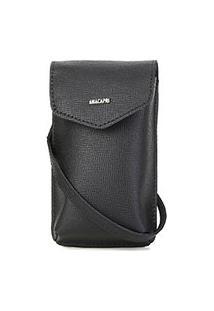 Bolsa Anacapri Mini Bag Pqn Bali Porta Celular Feminina - Feminino-Preto