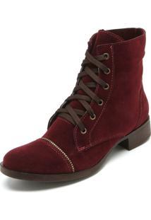 004422317 ... Bota Coturno Dafiti Shoes Recortes Vinho