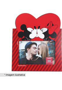 Porta Retrato Mickey & Minnie® - Vermelho & Preto - Zona Criativa