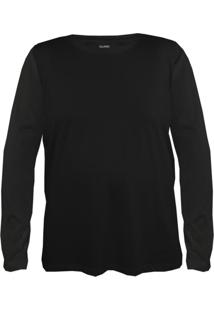 Camiseta Gajang Sem Costura Gigante Preto