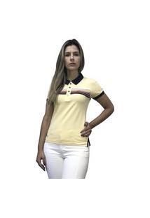 Camiseta Hifen Polo Feminina Amarelo