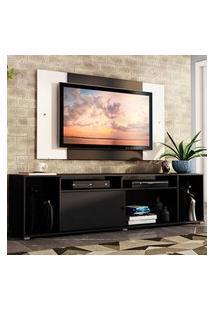 Rack Madesa Cancun E Painel Para Tv Até 58 Polegadas - Preto/Branco 8N73 Preto