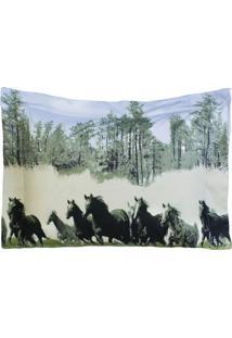 Porta Travesseiro Desire Estampado 1 Peça 200 Fios Cavalo