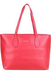 Bolsa Via Uno Shopper Feminina - Feminino-Vermelho