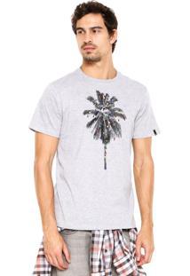 Camiseta Quiksilver Palm Light Cinza