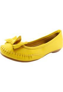 Sapatilha Café Brasil Comfort Lace Amarelo