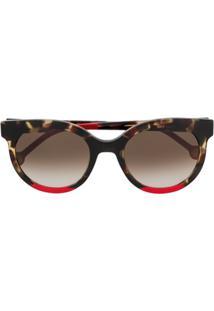 45507ca9fcc57 Farfetch. Óculos De Sol Feminino Redondo ...
