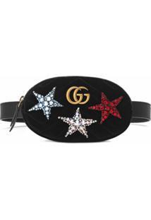 Gucci Pochete 'Gg Marmont' Com Logo - Preto