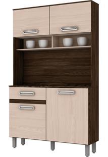 Cozinha Compacta 3 Portas 1050Mm Moka E Fendi Briz