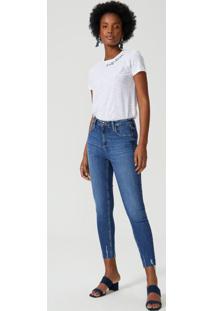 Calça Jeans Skinny Puídos Barra