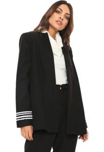 Blazer My Favorite Thing(S) Bordado Preto