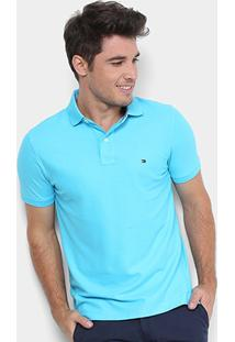 Camisa Polo Tommy Hilfiger Performance Pique Masculina - Masculino