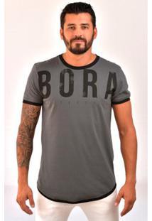 Camiseta Bora Lifestyle - Masculino-Chumbo