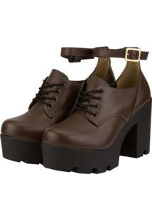 Oxford Barth Shoes Mali Feminino - Feminino-Marrom
